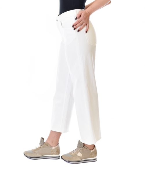 DONDUP JEANS DONNA BIANCO LOOSE FIT AVENUE 1