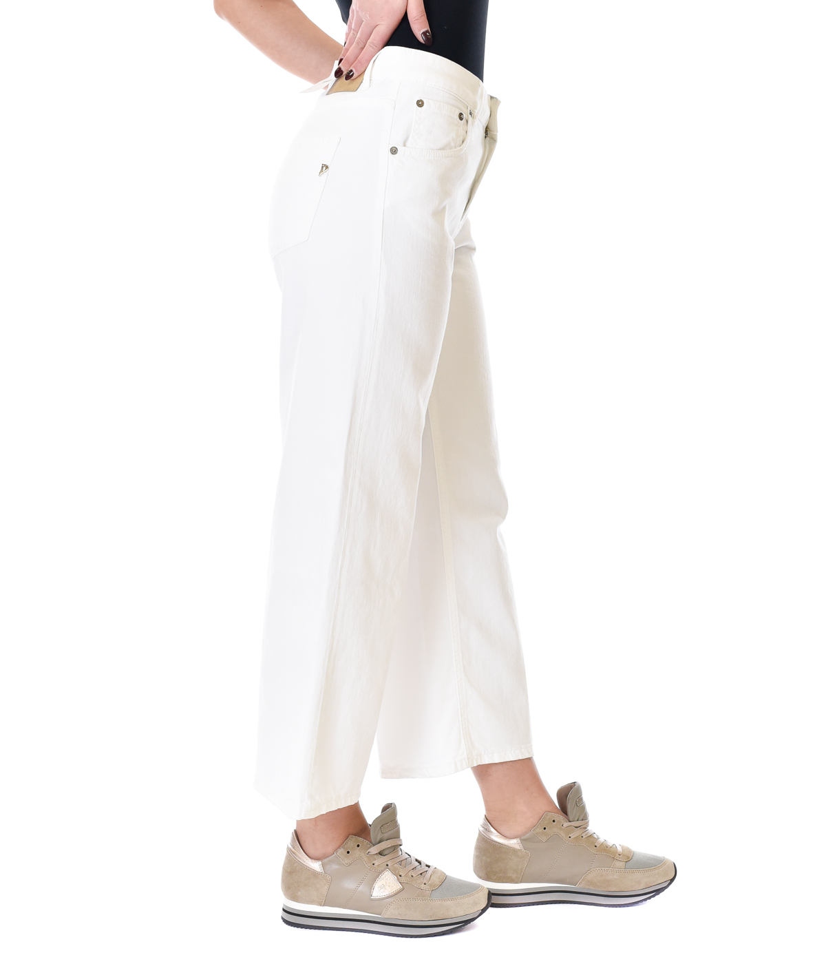 DONDUP JEANS DONNA BIANCO LOOSE FIT AVENUE
