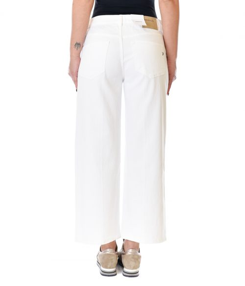 DONDUP JEANS DONNA BIANCO LOOSE FIT AVENUE 3