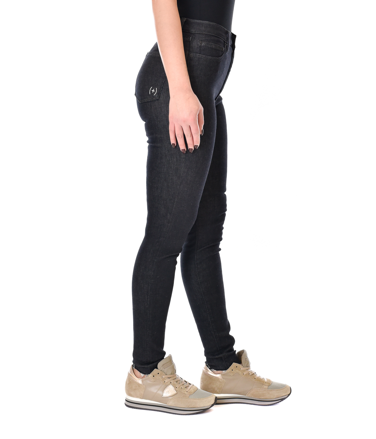 (+) PEOPLE JEANS DONNA BLU NOTTE DENIM SKINNY FIT