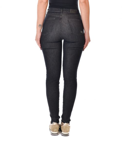 (+) PEOPLE JEANS DONNA BLU NOTTE DENIM SKINNY FIT 3