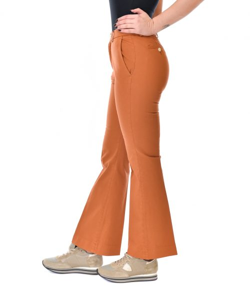 (+) PEOPLE PANTALONE DONNA MATTONE SKINNY FIT A ZAMPA 1