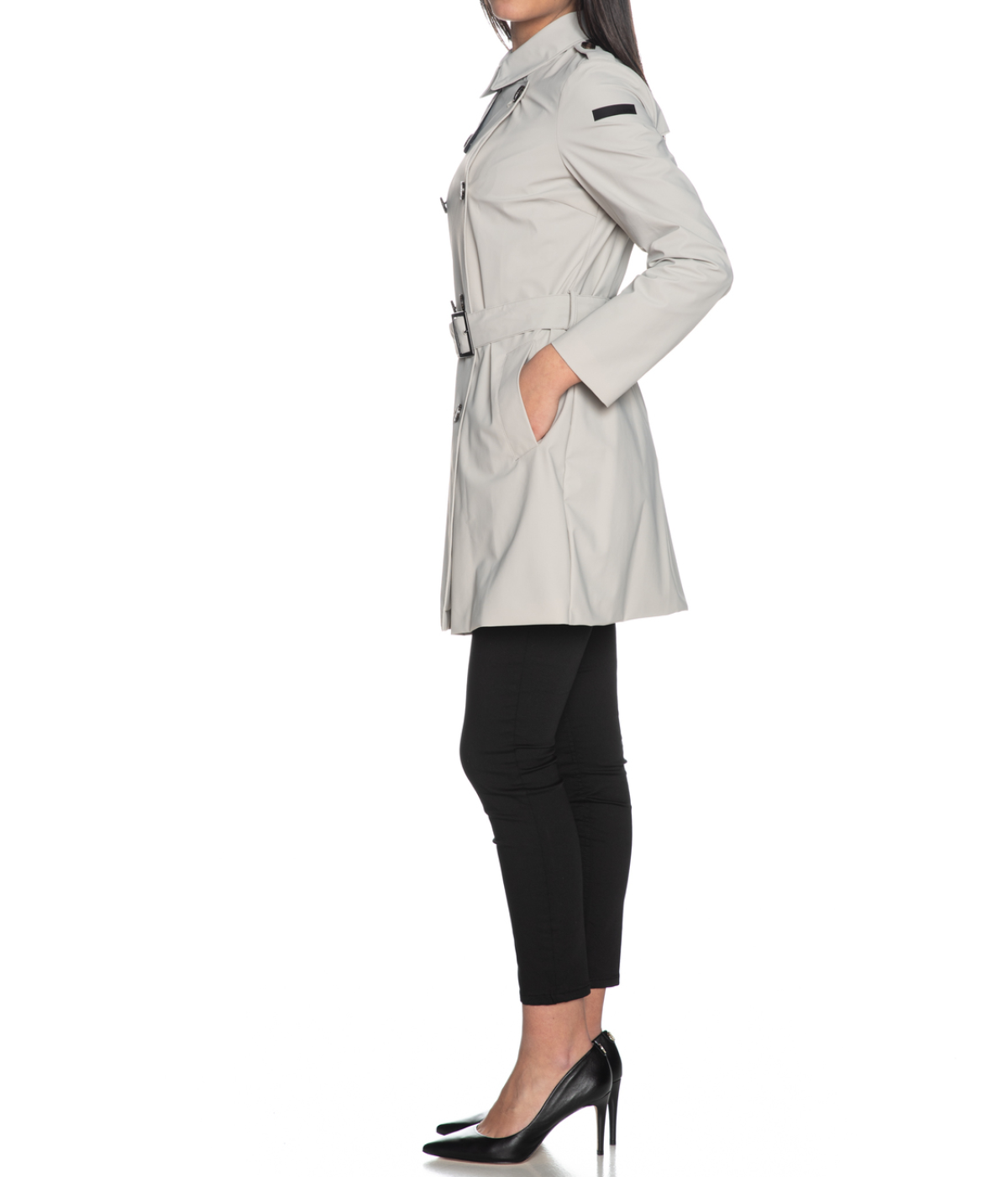 RRD TRENCH DONNA GRIGIO CITY TRENCH LADY SPRING SUMMER