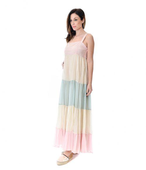 KAOS ABITO DONNA RAINBOW LONG DRESS 1