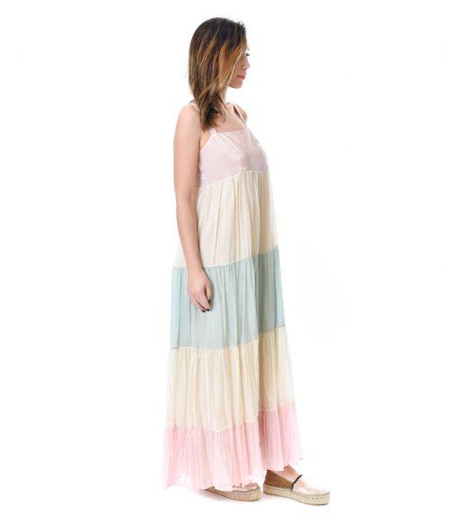KAOS ABITO DONNA RAINBOW LONG DRESS 2