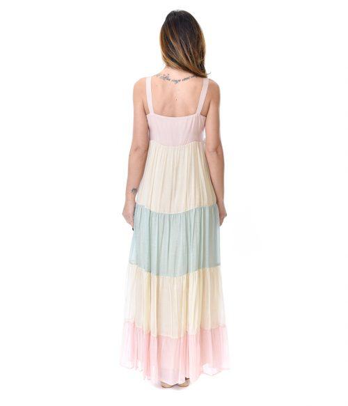 KAOS ABITO DONNA RAINBOW LONG DRESS 3
