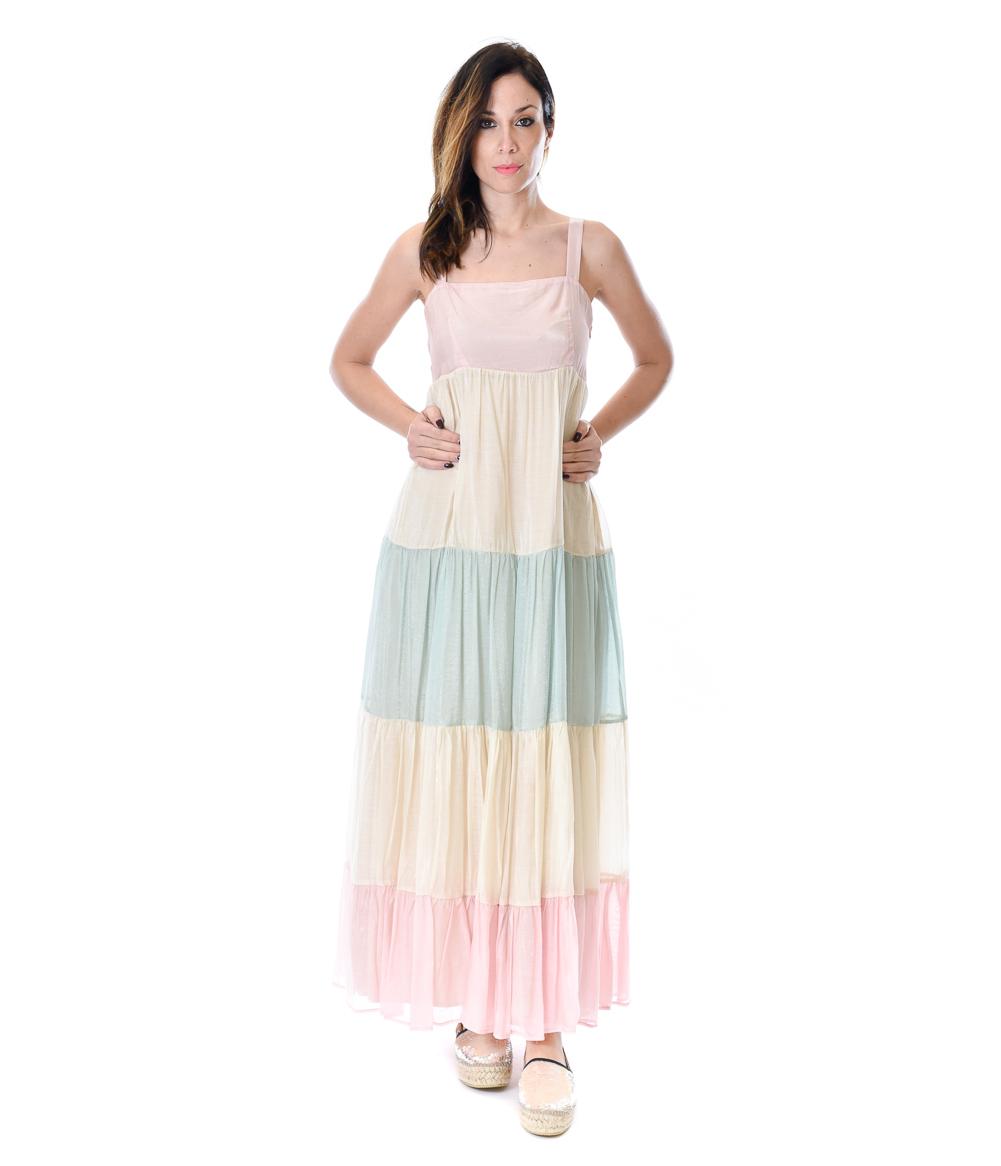 KAOS ABITO DONNA RAINBOW LONG DRESS