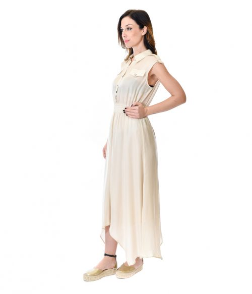 PATRIZIA PEPE ABITO DONNA PANNA LONG DRESS 1