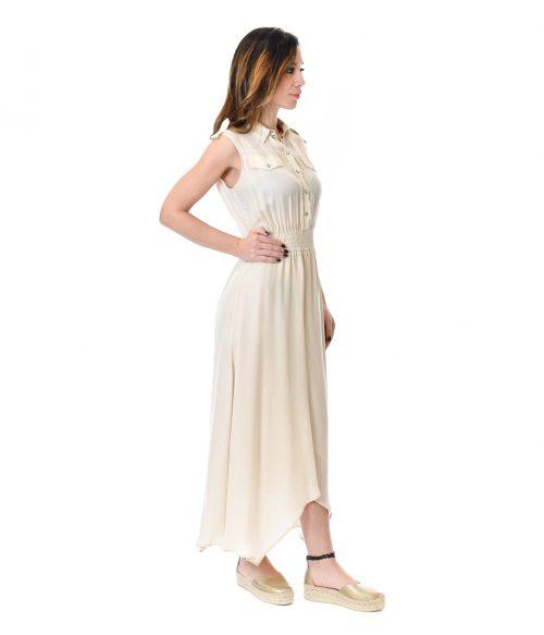 PATRIZIA PEPE ABITO DONNA PANNA LONG DRESS 2
