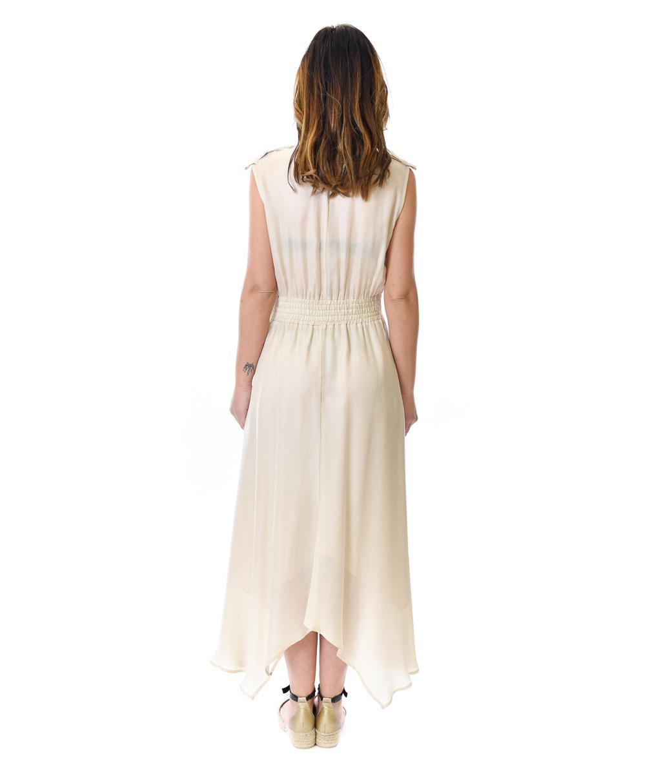 PATRIZIA PEPE ABITO DONNA PANNA LONG DRESS