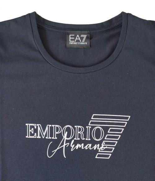 EMPORIO ARMANI T-SHIRT DONNA BLU STAMPATA LOGO 1