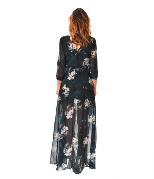 PATRIZIA PEPE ABITO DONNA BLUE FLOWERS LONG DRESS 3