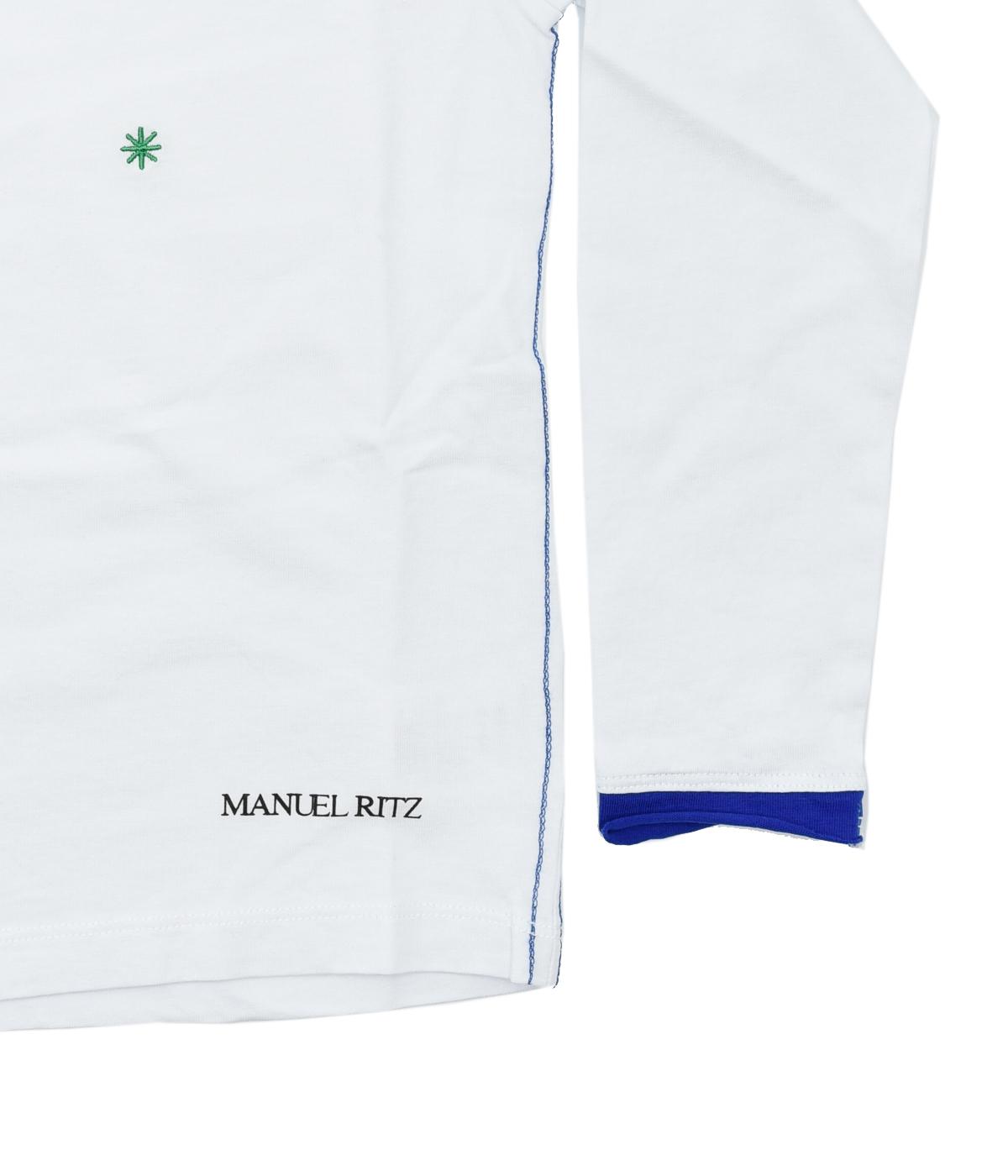 MANUEL RITZ T-SHIRT BAMBINO BIANCA FANTASIA 4-16 ANNI