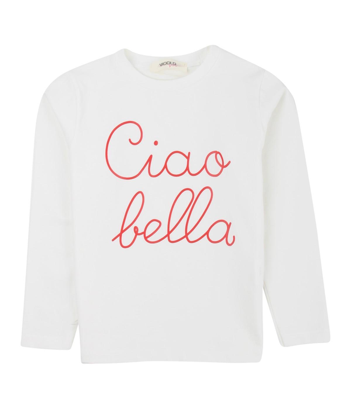 VICOLO GIRL T-SHIRT BAMBINA BIANCA CIAO BELLA DA 4 A 14 ANNI