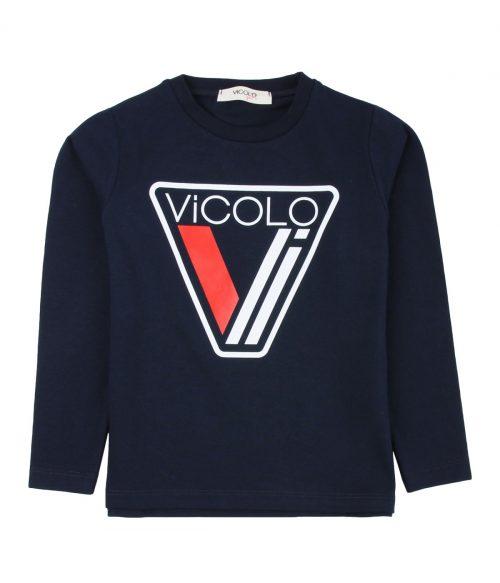 VICOLO GIRL T-SHIRT BAMBINA BLU DA 4 A 14 ANNI