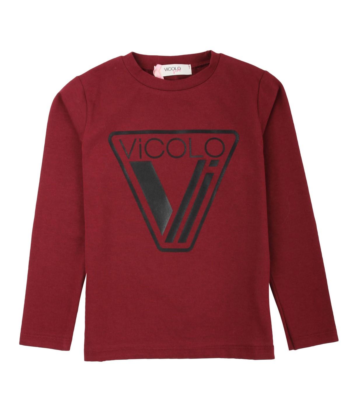 VICOLO GIRL T-SHIRT BAMBINA BORDEAUX DA 4 A 14 ANNI